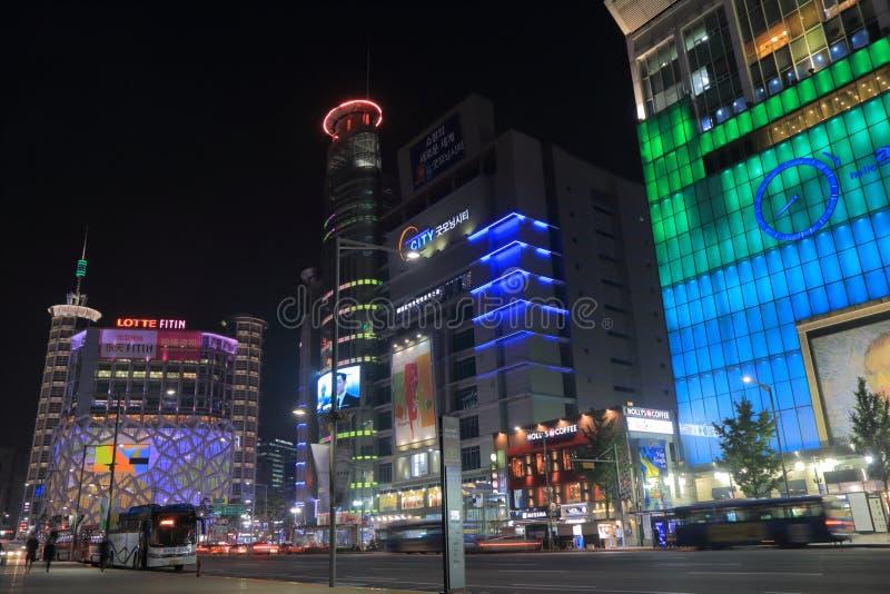 Dongdaemun shopping department store Seoul South Korea. People visit Dongdaemun shopping district in Seoul South Korea royalty free stock images