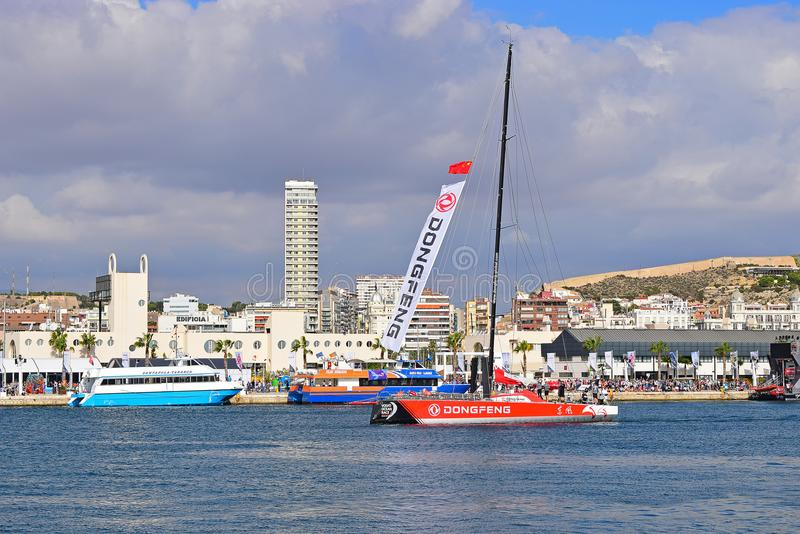 Dongfeng rasy drużyny Volvo oceanu rasa Alicante 2017 zdjęcie royalty free