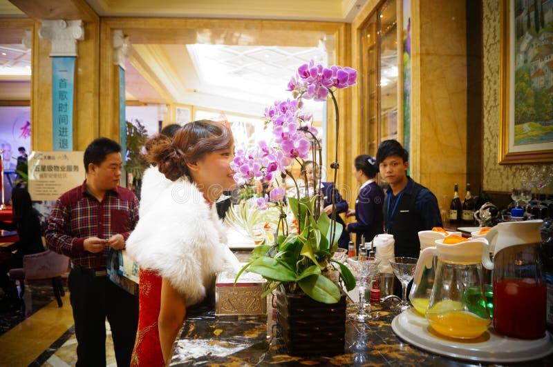 Dongguan, China: Bar. Dongguan Guangdong, for the real estate promotion will serve the bar stock images