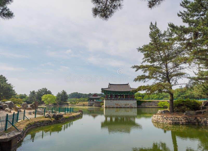 Donggung Palace and Wolji Pond in Gyeongju. South Korea royalty free stock images