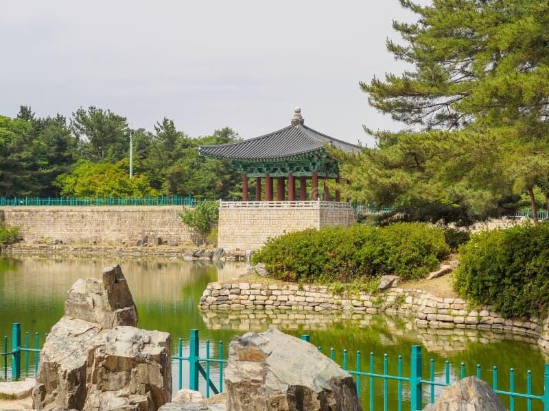 Donggung Palace and Wolji Pond in Gyeongju. South Korea royalty free stock photos