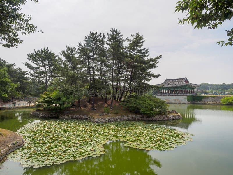 Donggung Palace and Wolji Pond in Gyeongju. South Korea stock image