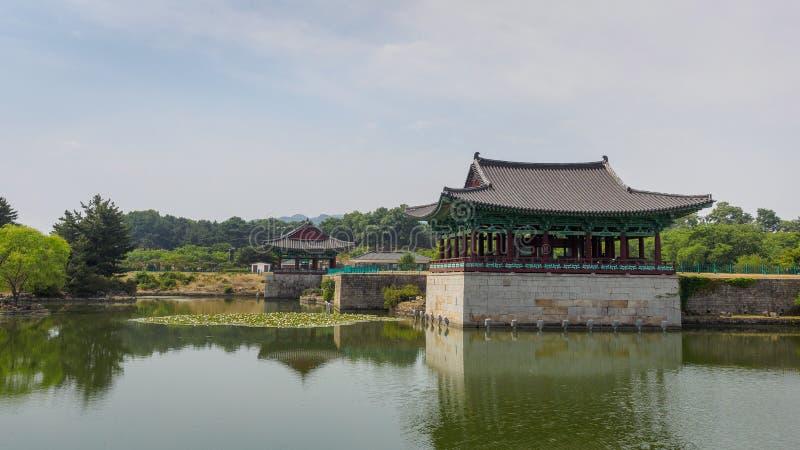 Donggung Palace and Wolji Pond in Gyeongju. South Korea royalty free stock photography