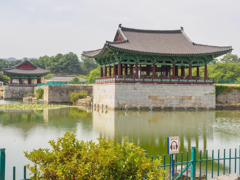 Donggung Palace and Wolji Pond in Gyeongju. South Korea stock photography