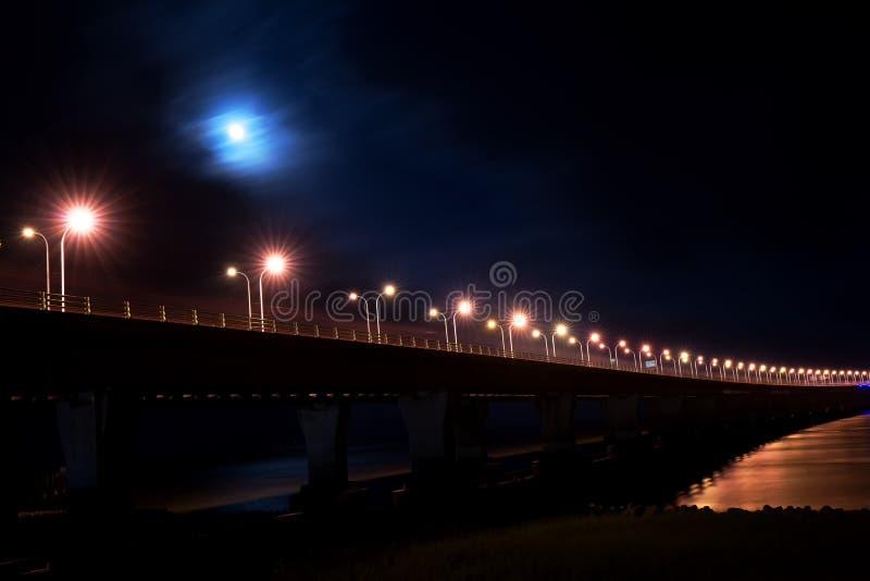 DonghaiEast sea Bridge in Shanghai. Donghai Bridge, The only way to Yangshan Port. Nightview. Ruchaogang stock photo