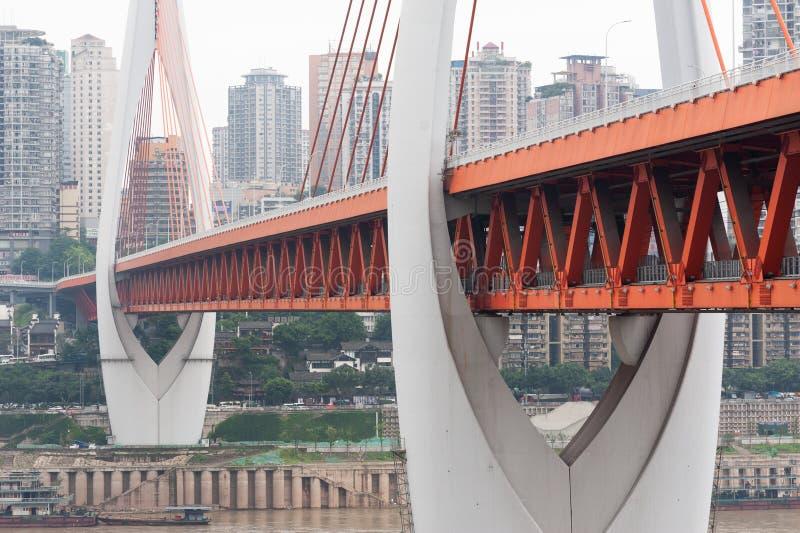 DongShuiMenbrug in daglicht in Chongqing royalty-vrije stock afbeeldingen