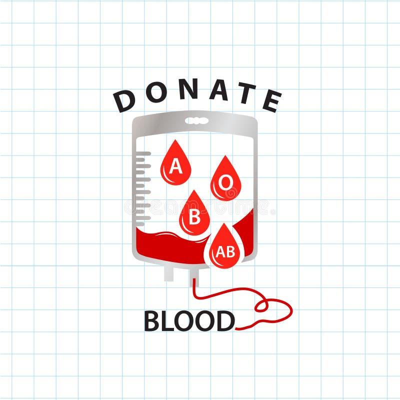 Download Doni Il Concetto Del Sangue Con Il Sangue Della Borsa Ed Il Gruppo Sanguigno Di Goccia Illustrazione Vettoriale - Illustrazione di misura, ospedale: 56892519