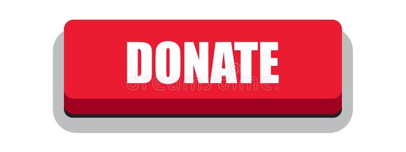Doni il rosso del bottone di web royalty illustrazione gratis