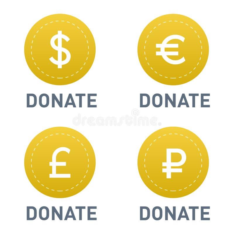 Doni l'icona di vettore del bottone illustrazione vettoriale