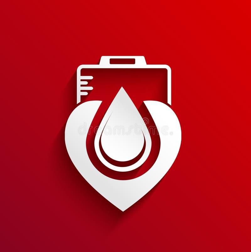 Download Doni La Progettazione Di Massima Del Sangue Su Fondo Rosso Illustrazione Vettoriale - Illustrazione di donazione, concettuale: 56892375
