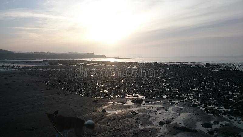 Doniford Beach on a cold winter day stock photo