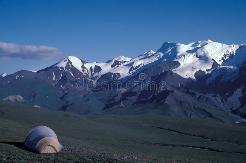 Donjek Range. Coast Mountains, Kluane National Park, Yukon, Canada royalty free stock photo
