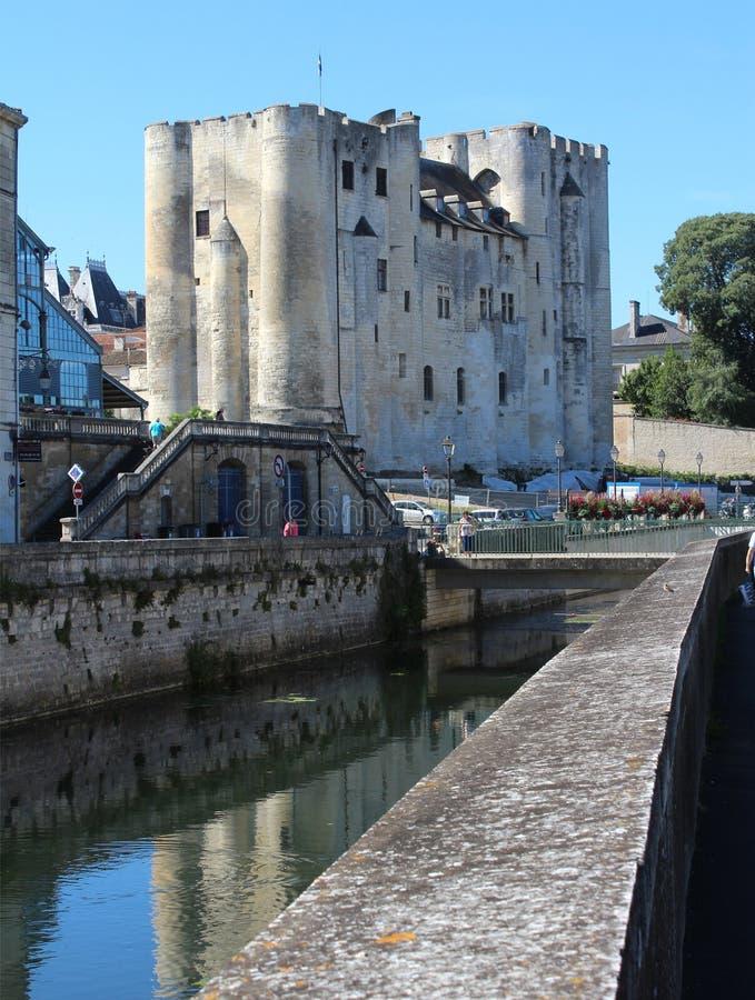 Donjon de Niort royaltyfri fotografi