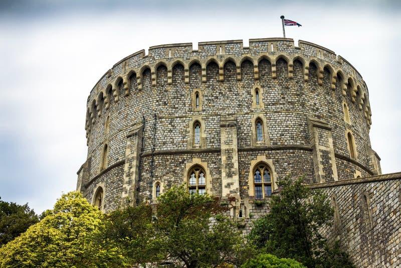 Donjon - der große Turm oder die innersten halten von mittelalterlichen Windsor Castle lizenzfreie stockfotografie