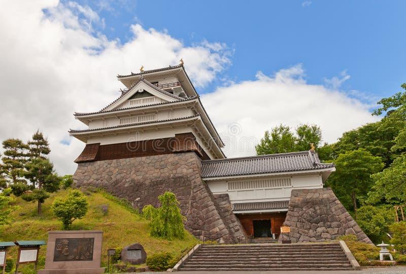 Donjon of Kaminoyama Castle, Yamagata Prefecture, Japan stock image