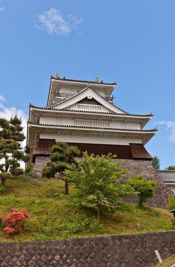 Donjon of Kaminoyama Castle, Yamagata Prefecture, Japan royalty free stock photos