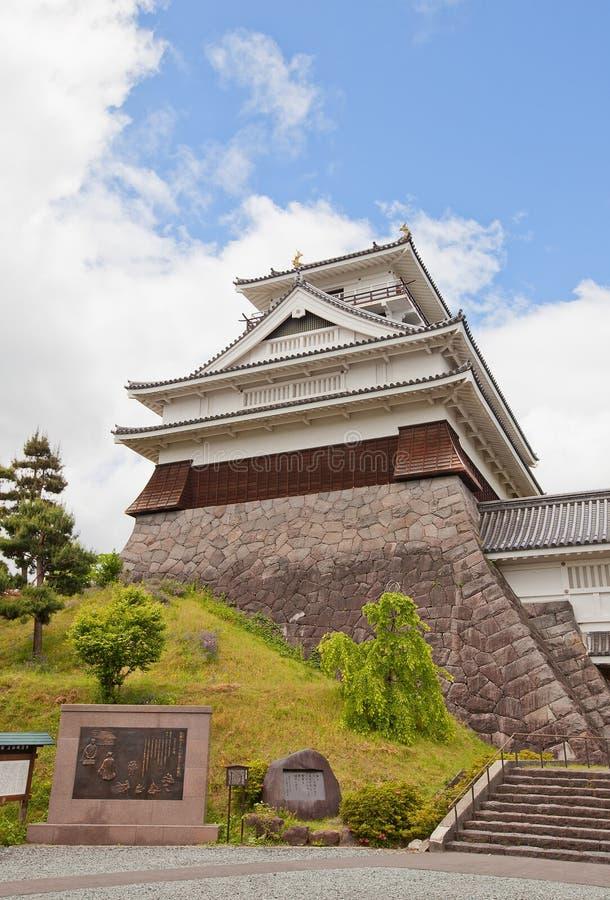Donjon of Kaminoyama Castle, Yamagata Prefecture, Japan royalty free stock images