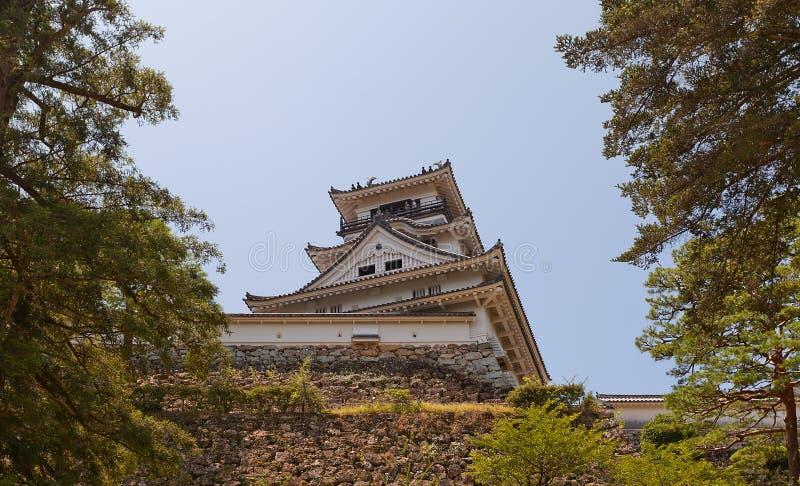 Donjon (tenshukaku) do castelo de Kochi, cidade de Kochi, Japão fotografia de stock royalty free