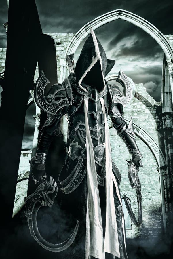 Donker cosplay demon stock foto's