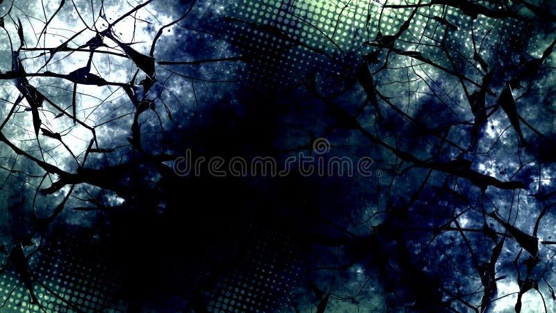 Donker digitaal abstract behang stock illustratie