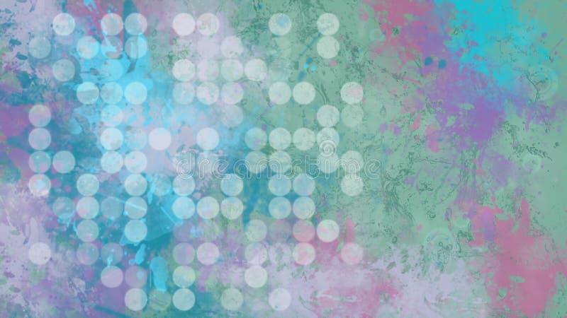 Donker digitaal abstract behang met bokeh stock illustratie