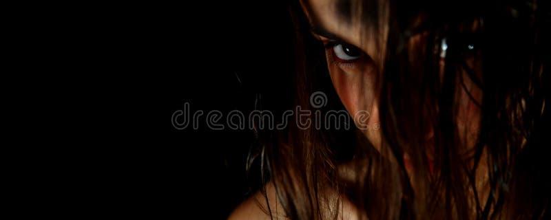 Donker gezicht #4 stock foto's
