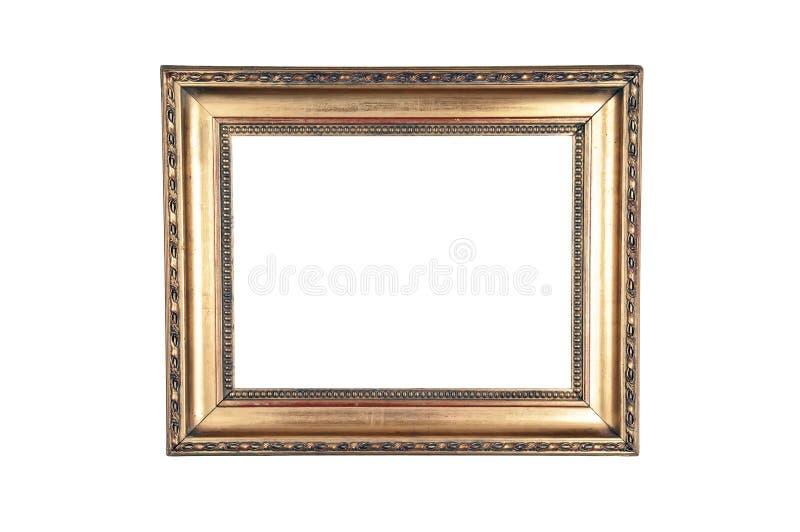 Donker gouden ontwerp houten kader stock fotografie