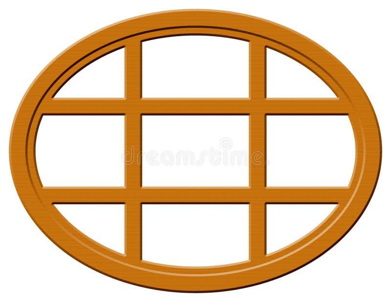 Donker Houten Ovaal Venster vector illustratie