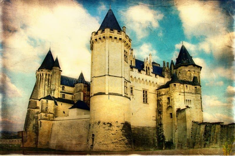 Donker kasteel stock foto