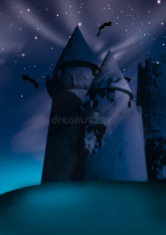 Donker kasteel vector illustratie