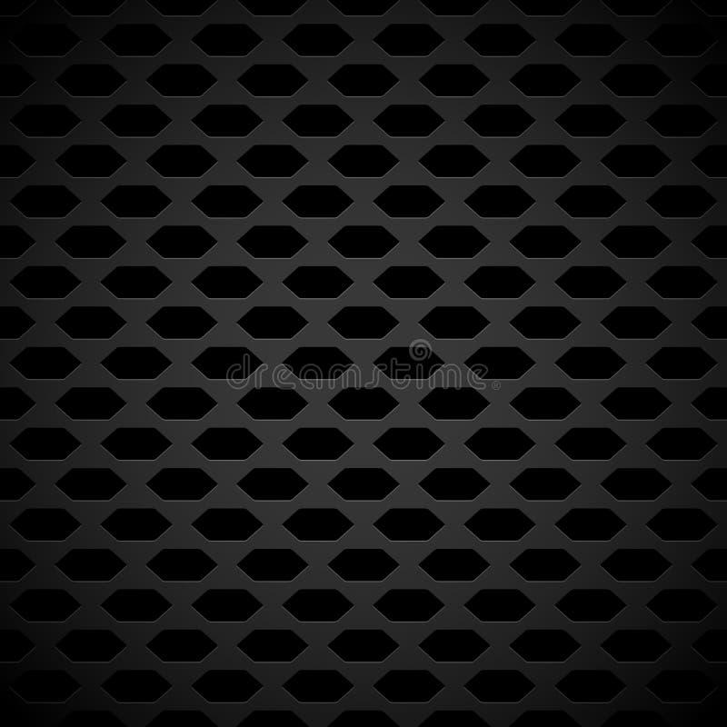 Donker koolstof-als Achtergrondpatroon met foutloos Herhaalbaar G royalty-vrije illustratie