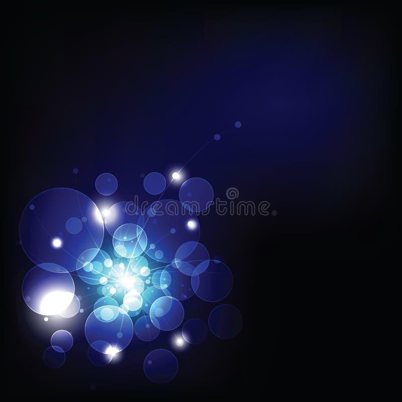 Donker licht en bokeh vector illustratie