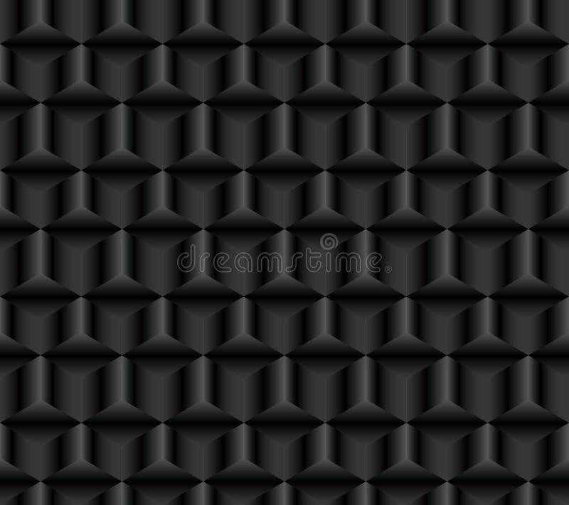 Donker naadloos patroon van kubussen royalty-vrije illustratie