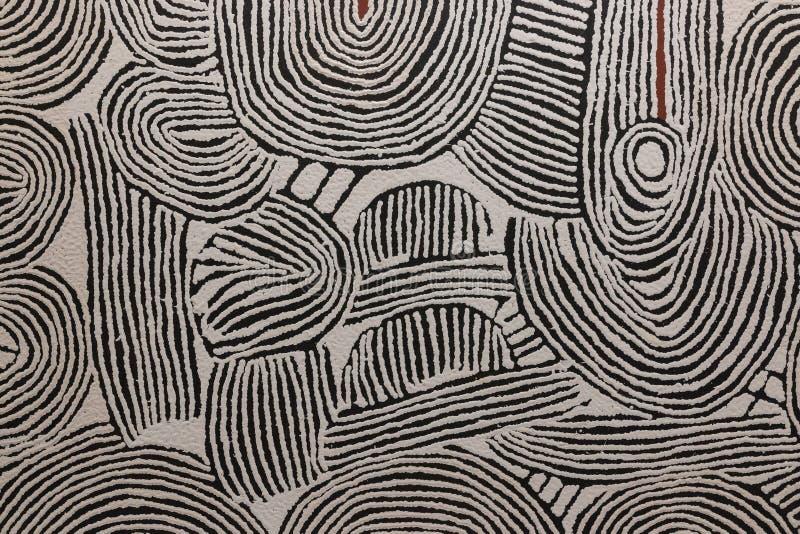 Donker strepen geometrisch patroon stock afbeelding