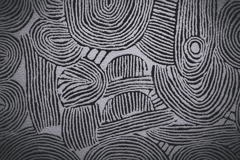 Donker strepen geometrisch patroon royalty-vrije stock afbeeldingen
