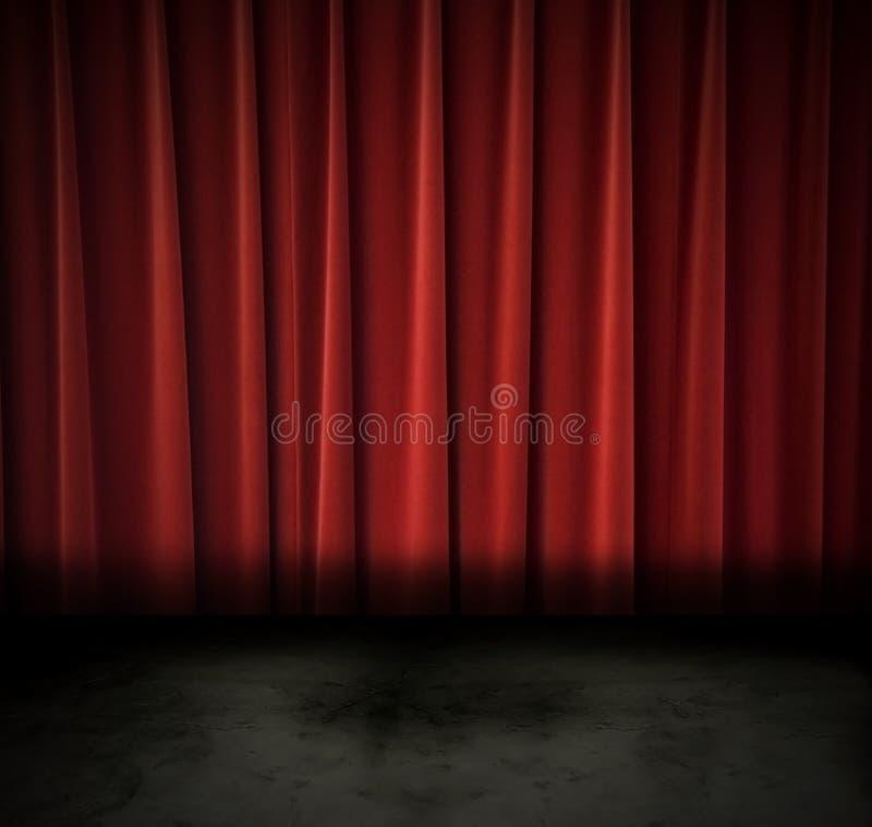 Donker theater royalty-vrije stock foto