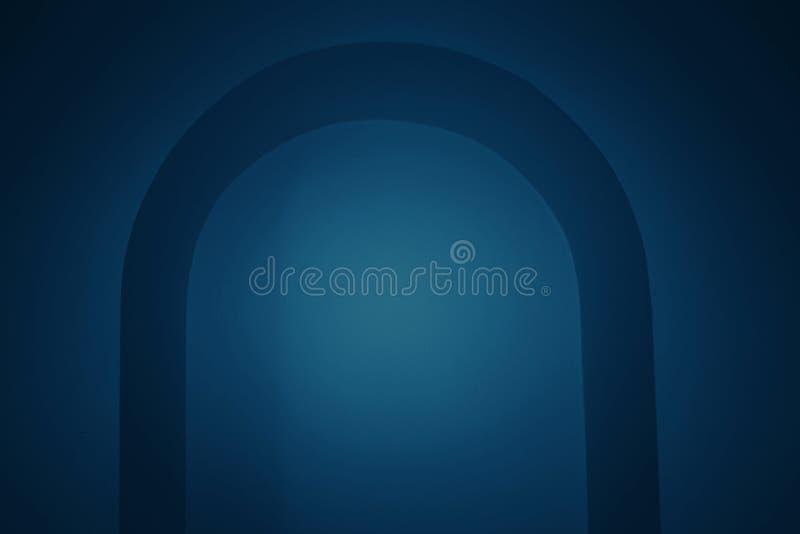 Donker toonblauw als achtergrond met kromme en gradiëntpatroon vector illustratie