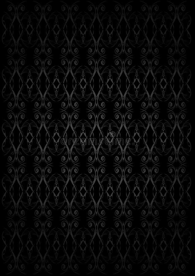 Donker Uitstekend Behang stock illustratie