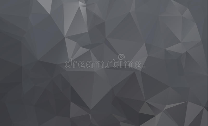 Donker vectordriehoeksontwerp als achtergrond Geometrische Achtergrond royalty-vrije illustratie
