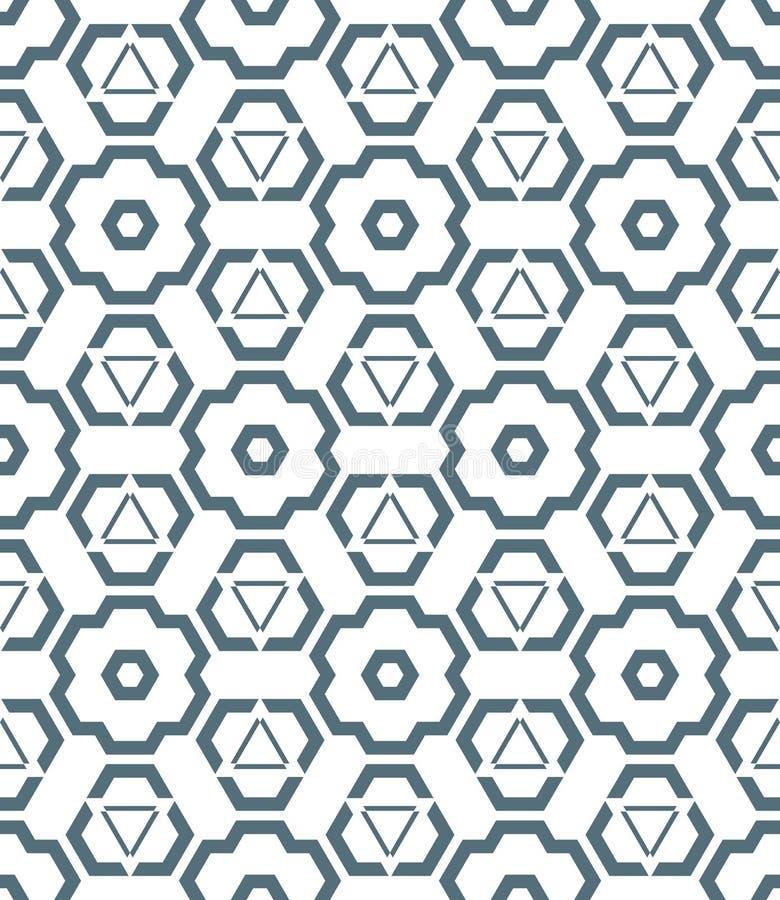 Donker zwart-wit kleuren abstract geometrisch naadloos patroon vector illustratie