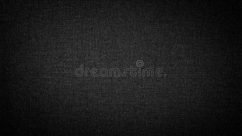 Donker zwart wit linnencanvas De achtergrond, textuur royalty-vrije stock fotografie