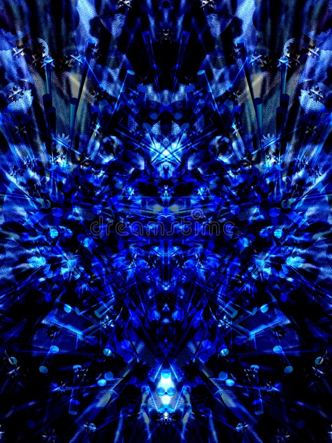 Donkerblauw stock illustratie