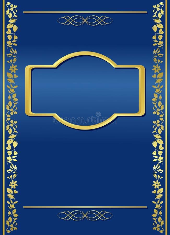 Donkerblauw frame met gradiënt - vector royalty-vrije illustratie