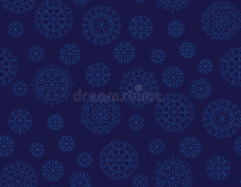 Donkerblauw herhaalbaar motief voor vakantie verpakkend document vector illustratie