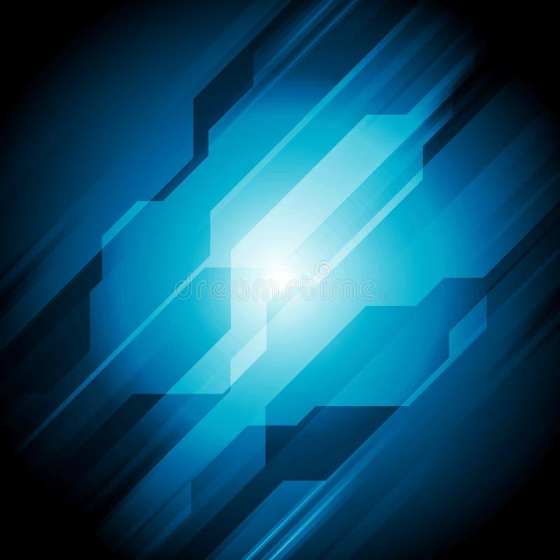 Donkerblauw hi-tech abstract ontwerp royalty-vrije illustratie