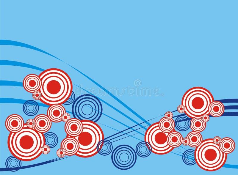 Donkerblauw patroon stock illustratie