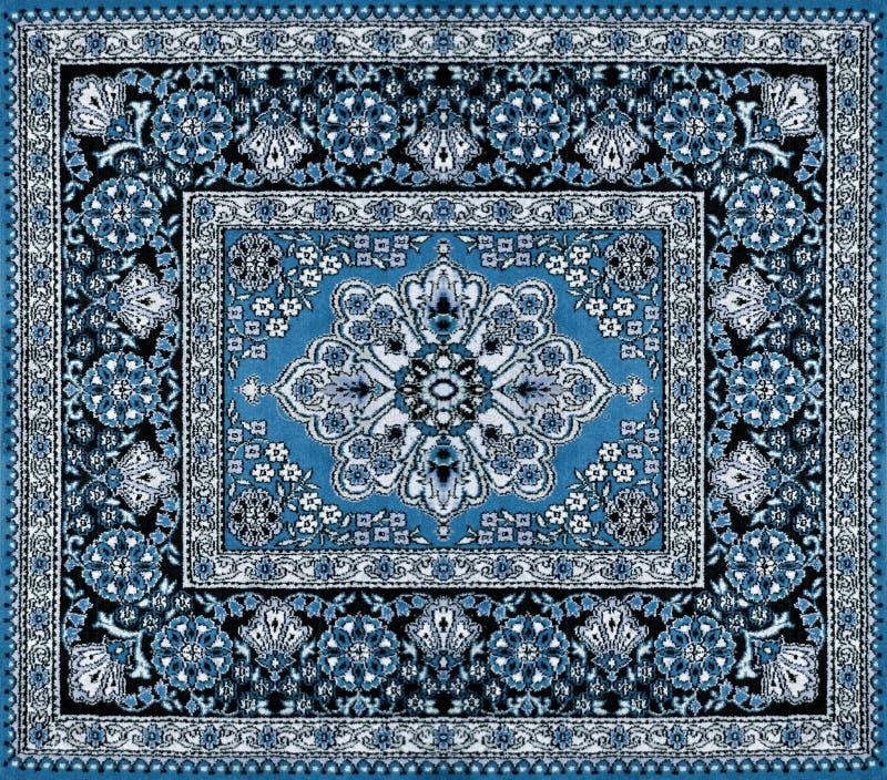 Donkerblauw Perzisch tapijt royalty-vrije stock afbeeldingen