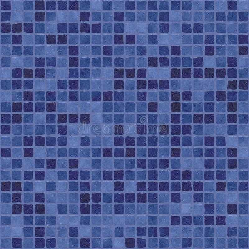 Donkerblauw purper mozaïek stock illustratie