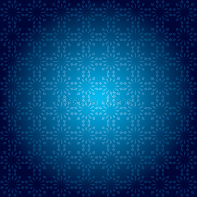 Donkerblauw uitstekend patroon met radiale gradiënt stock illustratie
