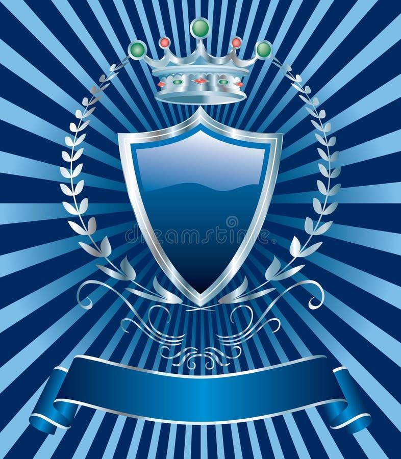 Donkerblauw zilver stock illustratie